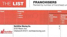 NorthStar Moving LABJ Top Franchise 2021