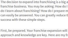 Franchising World website press